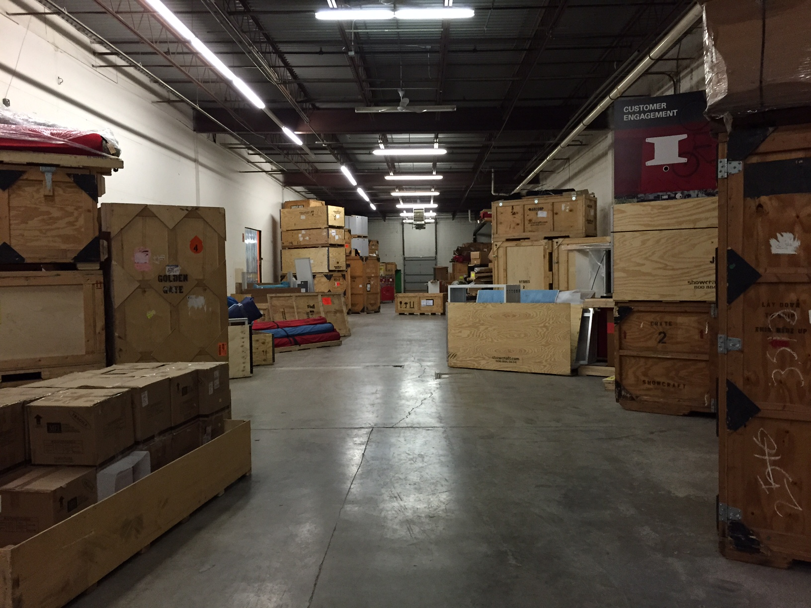 New warehouse filled